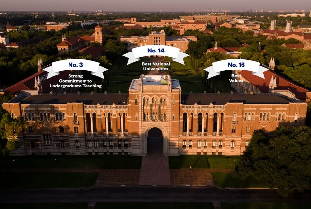 "Rice University is ranked No. 14 among the best national universities in the 2018 edition of U.S. News & World Report's ""Best Colleges"" guidebook."