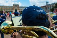 The Marching Owl Band serenaded students in the Academic Quad last week.