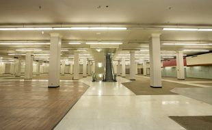 Interior of the historic Sears building today