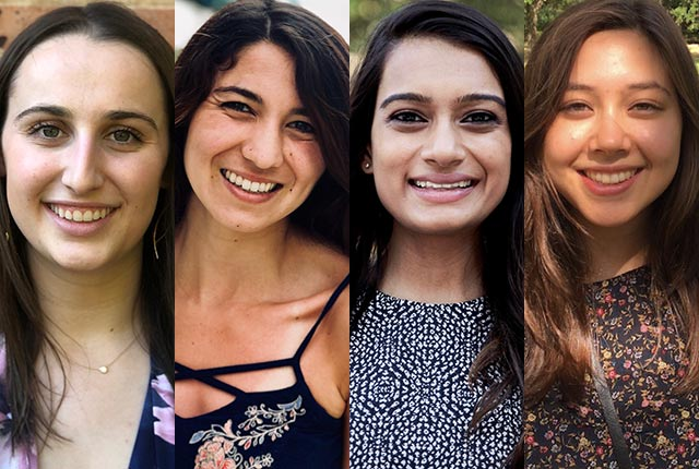 Four Rice University graduates have received 2018 Fulbright grants to study, teach and/or conduct research in a foreign country.