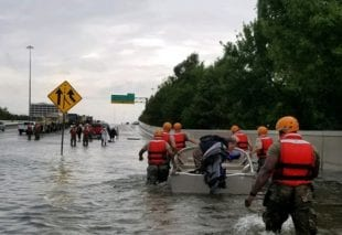 Image of rescuers during Hurricane Harvey. Submitted photo.