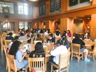 TXDC campers enjoyed lunch in the North Servery each afternoon. (Photo by Katharine Shilcutt)