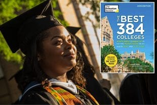Princeton Review cover and Rice graduate