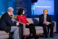 Rice President David Leebron joined University of Houston President Renu Khator on a panel hosted by The Atlantic.