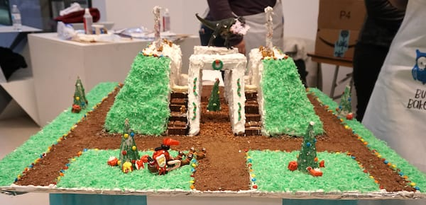 Team Busi Bakers gingerbread house