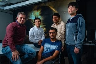 Rice researchers (from left) Gelu Costin, Chenguang Sun, Damanveer Grewal, Rajdeep Dasgupta and Kyusei Tsuno