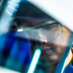 Rice University postdoctoral researcher Zhe Zhou is lead author of a paper on the discovery of a one-step method to turn silicon-based silyl enol ether into nitrogen-bearing alpha-aminoketones, valuable building blocks in chemical design. (Credit: Jeff Fitlow/Rice University)