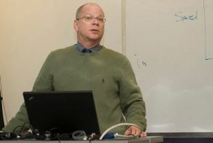 Professor Bob Stein teaching