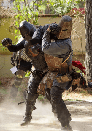 "Armored combat isn't just for the actors on ""Game of Thrones."""