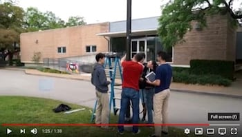 A team of Rice University students have developed an inexpensive flood monitoring system that can be deployed around a city to help first responders anticipate trouble spots during extreme weather.