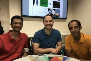 Rice University MOANA engineering researchers (from left) Ashok Veeraraghavan, Jacob Robinson and Caleb Kemere.