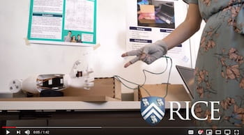 Video: Rice University students use principles of mechanical and electrical engineering and computer science to create interactive art.