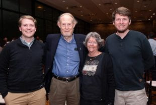 Rice alums (from left) Andrew Sinclair, Bart Sinclair, Diane Sinclair and Stuart Sinclair.