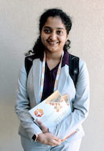 Rice University graduate student Sandhya Susarla led a study to create a flexible dielectric material that has all the electrical properties of the brittle materials in use today. (Credit: Courtesy of Sandhya Susarla)