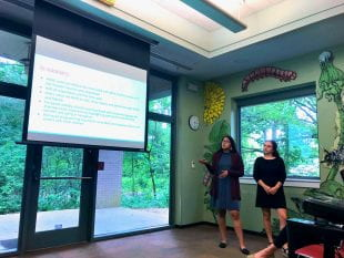 The HART members presented their survey findings to the Arboretum staff April 23.