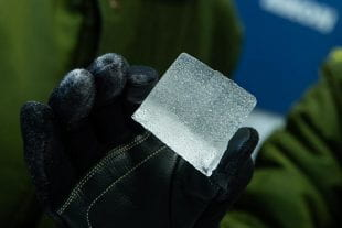 Piece of an ice core from Antarctica