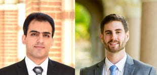 Robatjazi (left) and Swearer (right) are the first two Rice graduate students to win the prestigious award while pursuing their Ph.D.s.