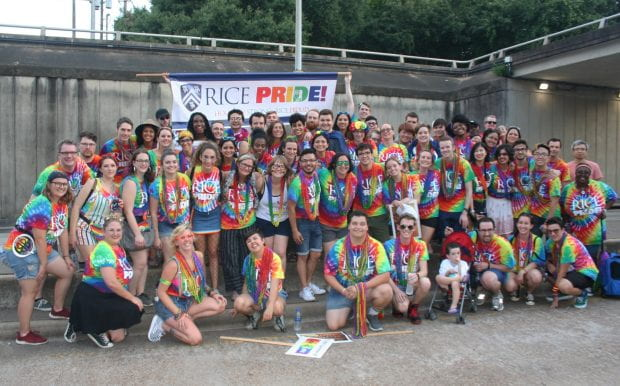 Rice marches in the 2019 Houston Pride Parade on June 22