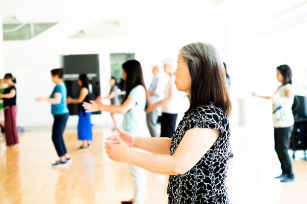 Tai chi at the Moody Center for the Arts July 9 2019