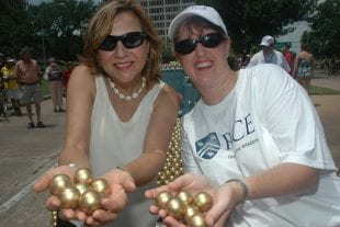 Naomi Halas and Jennifer West at Houston's Art Car Parade in 2012