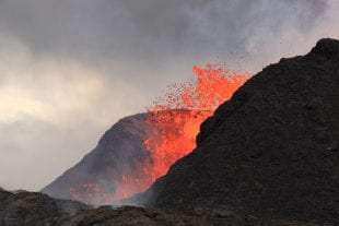 USGS photo of Kilauea lava fountain