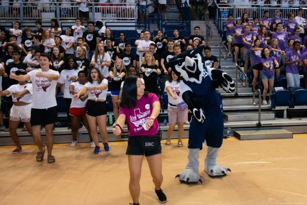 Bleachers shook and roars echoed throughout Tudor Fieldhouse as incoming Rice freshmen cheered on their student athletes at the annual Rice Rally Aug. 20.