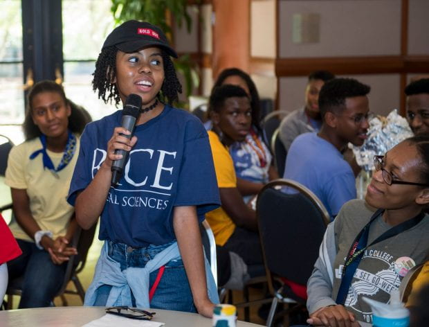 The Rice African Student Association and Black Student Association teamed up to pack Farnsworth Pavilion for an ice-breaking session Aug. 20.