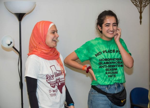 The Muslim Student Association showed students the campus prayer room in the adjacent Rice Memorial Chapel and shared upcoming activities for the semester, such as Donuts and Dua and the Halal Crawl.