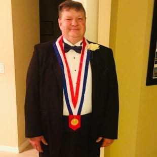 Johnny Curet, Rice's director of campus dining and senior executive chef, was one of 20 chefs to receive admission to the esteemed American Academy of Chefs (AAC) during its annual induction ceremony in July.