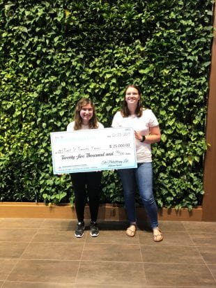 Lindsey Josephs and Thresa Skeslien-Jenkins won $25,000 in grant money for Houston nonprofit Plant It Forward Farms at the 2019 Philanthropy Lab annual conference.