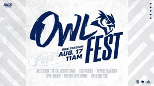 OwlFest 2019 is set for Aug. 17 at Rice Stadium.
