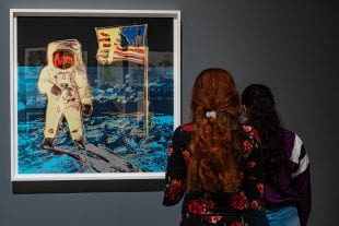Running through Dec. 21, the show celebrates the 50th anniversary of the Apollo 11 space flight with three galleries of works responding to the moon landing, including lithographs by Robert Rauschenberg and Andy Warhol and a virtual reality work by Laurie Anderson