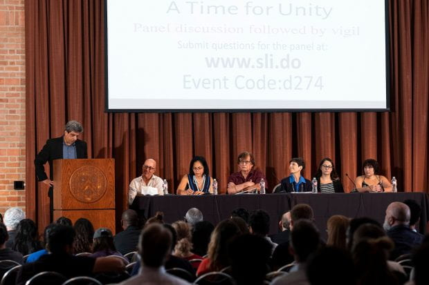 The Grand Hall of the Rice Memorial Center hosted a Sep. 3 panel discussion and vigil for victims of the recent shootings in El Paso, Texas and Dayton, Ohio.