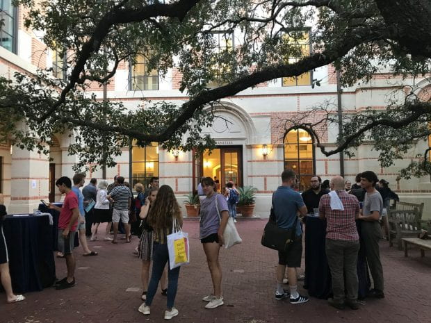 A welcome reception was held Sep. 5 in the courtyard of the Humanities building, where Dean Kathleen Canning greeted new and returning students to the School of Humanities.