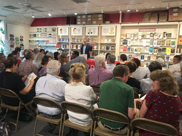 "It was standing room only in Brazos Bookstore Sept. 6 as Rice history professor Caleb McDaniel read from his new book, ""Sweet Taste of Liberty: A True Story of Slavery and Restitution in America."""