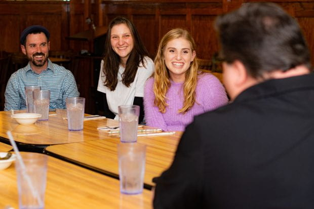Jewish Studies class dines with the 'Deli Man' himself (Photos by Yi Luo)