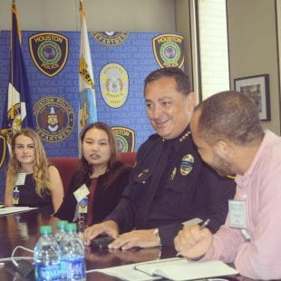 """Houston Police Chief Art Acevedo tells Rice students, """"Leadership is putting yourself at risk."""""""