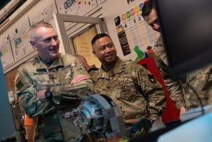 Gen. John Murray of U.S. Army Futures Command at Rice's OEDK in April 2019