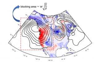 A figure depicting a northern hemisphere blocking event