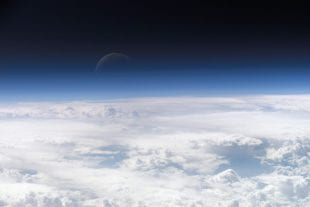 Earth's atmosphere as seen from the International Space Station July 20, 2006