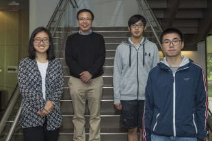 Rice University physicists (from left) Ming Yi, Qimiao Si, Tong Chen and Han Wu