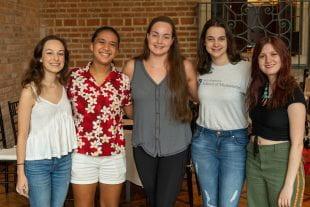 From left: Chloe Marcheli, Chloe Oani, Chloe Corbitt, Chloe Ditloff and Chloe Liebenthal.