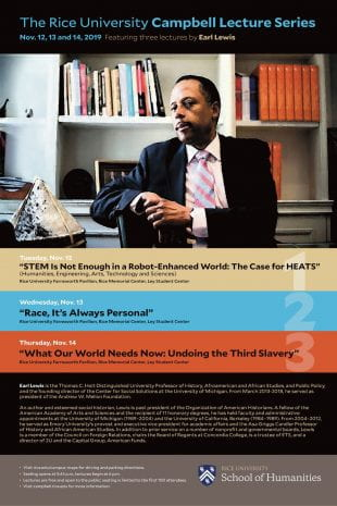 2019 Campbell Lecture Series poster