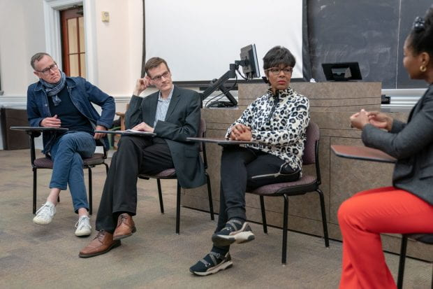 Legendary director Euzhan Palcy came to campus Nov. 15 for a panel discussion co-sponsored by the Department of Classical and European Studies and Rice's interdisciplinary Cinema and Media Studies program, housed in the Department of Art History.