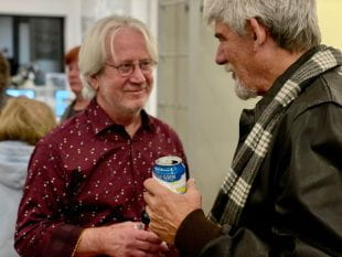 "Houston folk legend Vince Bell chatted with fans Nov. 14 before the screening of ""For the Sake of the Song."""