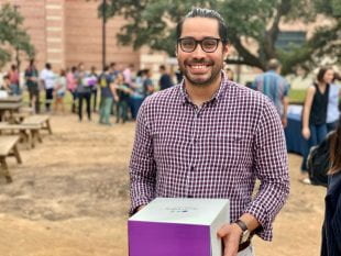 """I think it's really, really good that Rice does this,"" said Ph.D. student Miguel Ángel Ortiz Salazar."