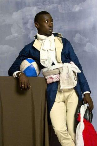 Omar Victor Diop,Jean-Baptiste Belley, 2014. Série Diaspora. Impression jet d'encre pigmentaire sur papier Harman By Hahnemuhle. © Omar Victor Diop. Courtesy Galerie MAGNIN-A, Paris