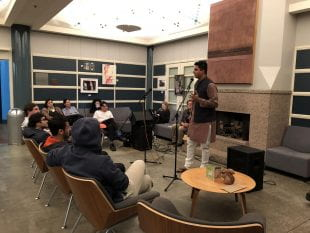 Espresso Yourself, a poetry night, was a new addition to this year's IEW line-up of activities.