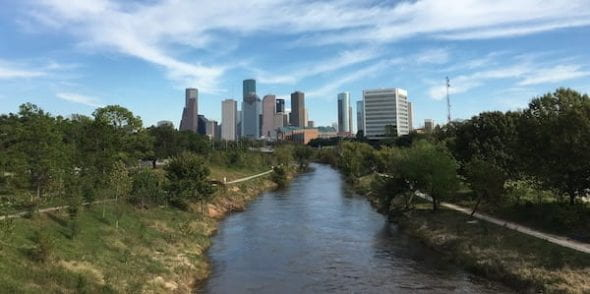 Houston's status as the energy capital of the world, as well as its exposure to extreme flooding events in recent years, makes it a prime location for environmental studies, according to Rice University researchers. Photo by LithiumAneurym/Wikipedia