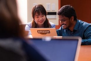 Beidi Chen and Tharun Medini, graduate students in computer science at Rice University.